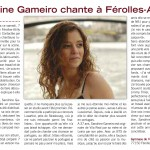 Sandrine Gameiro sings at Férolles-Attilly