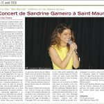 Concert de Sandrine Gameiro à Saint Maur