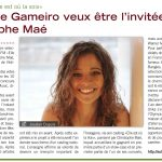 Sandrine Gameiro wants to be the guest of Christophe Maé